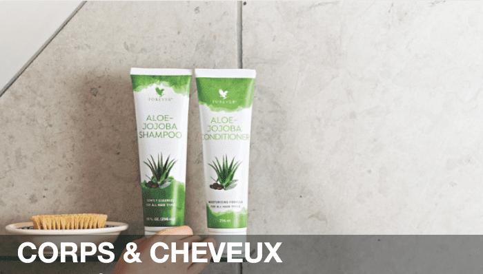 Gel pour gènes articulaires & crème chauffante relaxante.<br>Shampoing et après-shampoing Aloe vera Jojoba <br>qui respectent les cuirs chevelus fragiles <br>et laissent un cheveu démêlé souple et brillant.