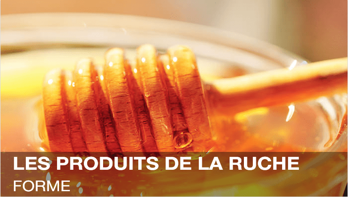 Remplacez le sucre par notre délicieux miel<br>appelé or de la ruche aux qualités nutritives supérieures.<br>Fortifiez votre organisme grâce au pollen,<br>à la Gelée Royale et à la Propolis.