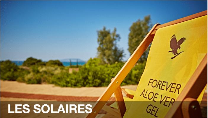 Notre crème solaire Forever Aloe sunscreen indice 30<br>vous apportera protection et le pouvoir apaisant de l'aloès.<br>Agissant contre les rayons UVB et UVA.<br>Cette crème solaire, résistante à l'eau et adaptée<br>à tous les types de peau, protège et apaise !